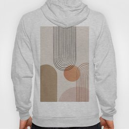 Abstraction crescent moon geometric Hoody