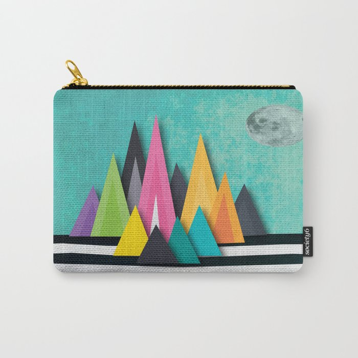 Prison Stripe Mountains Carry-All Pouch
