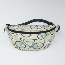 Bicycle Journey Blue Fanny Pack