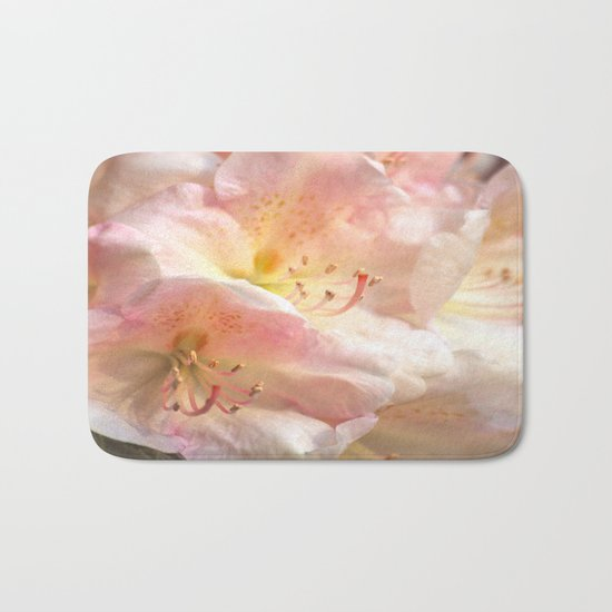 Delicate Flowers In Pink Shades Bath Mat