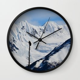 Perch With A View - I Wall Clock