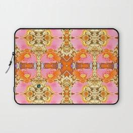 Pink & Orange Poppy 4 Laptop Sleeve