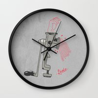 carnage Wall Clocks featuring Carnage by Revolve Production
