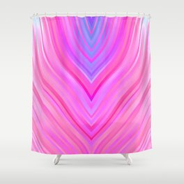 stripes wave pattern 3 c80i Shower Curtain