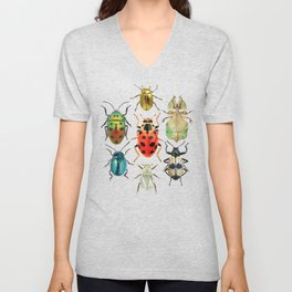 Beetle Compilation Unisex V-Neck
