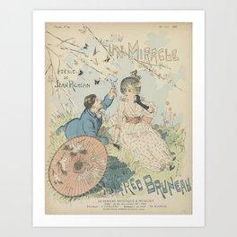 Sheet music Un miracle by Jean Richepin and Alfred Bruneau Théophile Alexandre Steinlen (1859 - 1923 Art Print