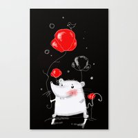 mouse Canvas Prints featuring mouse  by Katja Main