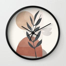 Abstract Rock Geometry 13 Wall Clock
