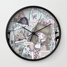 Malice In Wonderland Comic Book Wall Clock