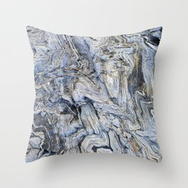 "Travel & nature photography ""detail of grey and blue rocks, Skopelos, Greece"" fine art photo print.  Throw Pillow"