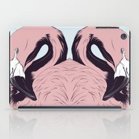 flamingo iPad Cases featuring Flamingo by CranioDsgn