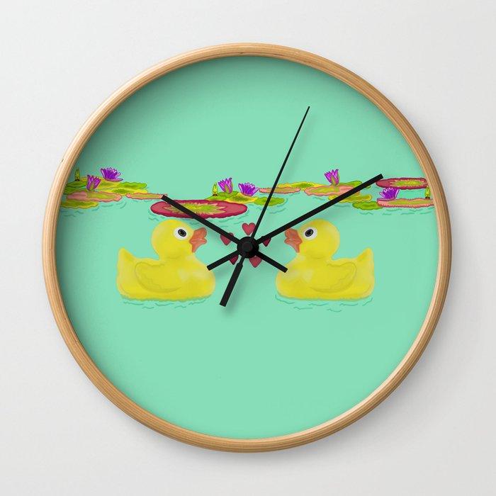 Duckies Wall Clock
