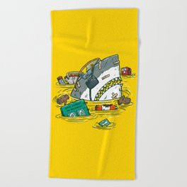 Safety Third Shark Beach Towel