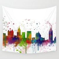 atlanta Wall Tapestries featuring Atlanta Skyline by Marlene Watson
