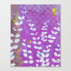 Ferns And Orchid Skies Canvas Print