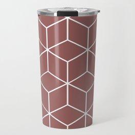 Cube Geometric 03 Dark Pink Travel Mug