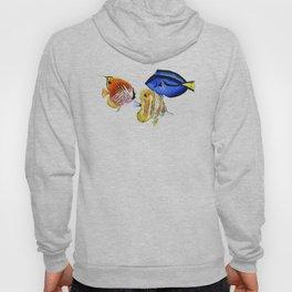 Coral Fish, tropical fish artwork, coral sea world Hoody