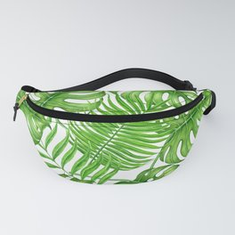 Tropical leaves watercolor Fanny Pack