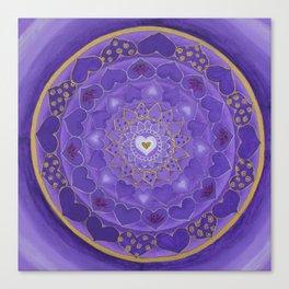 Divine Love Mandala Canvas Print