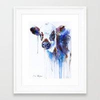 cow Framed Art Prints featuring Cow by Slaveika Aladjova