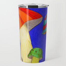 caterpillars on mushrooms Travel Mug
