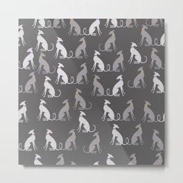 Whippet Pattern II Metal Print