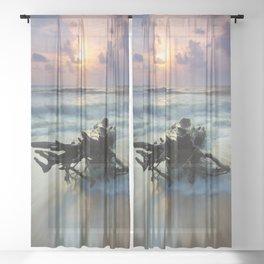 Driftwood Sheer Curtain