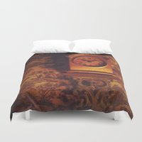 wall clock Duvet Covers featuring Clock by JesseRayus