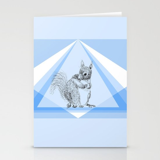 Squirrel stealing nuts Stationery Cards