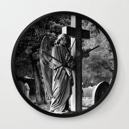 Churchyard angel Wall Clock