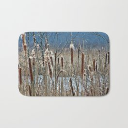 Cattail, Bulrush and Wetlands Bath Mat