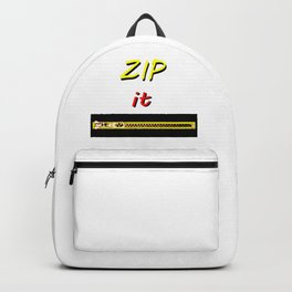 Zip it Black Yellow Red jGibney The MUSEUM Gifts Backpack