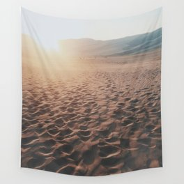 Footprints In The Desert Wall Tapestry