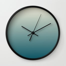 Cream to Marine Green Wall Clock