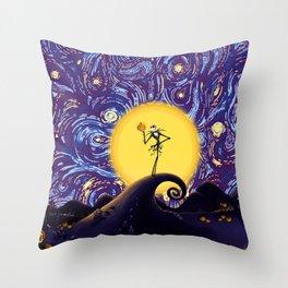 skellington king Throw Pillow