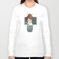 teacher Long Sleeve T-shirts featuring Kokeshi Teacher  by Pendientera