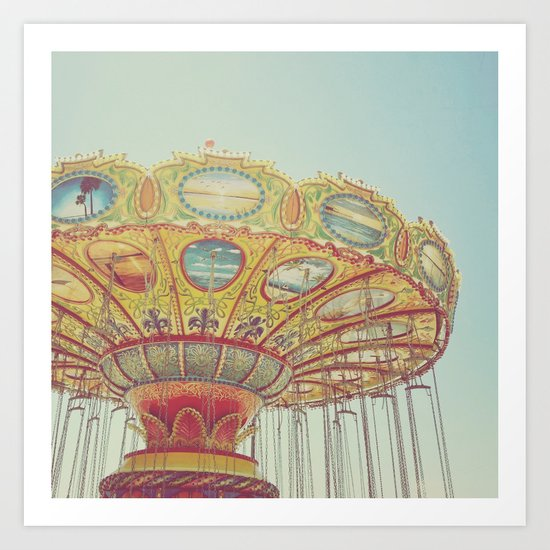 Vintage Carousel Art Print