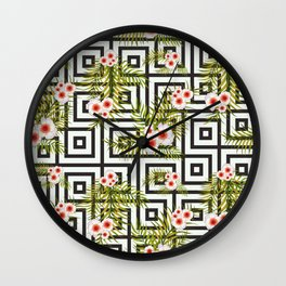 Geometric Jungle #society6 #decor #buyart Wall Clock