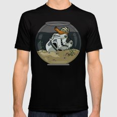 Snail Trooper Black MEDIUM Mens Fitted Tee