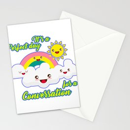 Perfect Conversation Day Stationery Cards