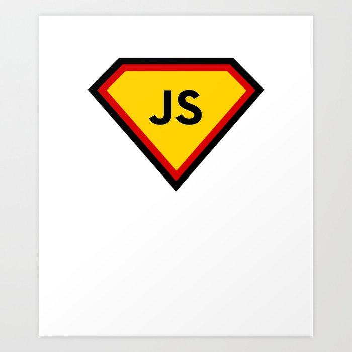 Java script - js programming language Art Print
