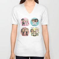 cyrilliart V-neck T-shirts featuring Adventures of 1D & LM by Cyrilliart