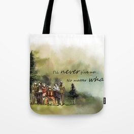 Team 7 Never Give Up Tote Bag