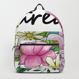 dreamer . flowers and the words . (https://society6.com/totalflora/collection ) Backpack