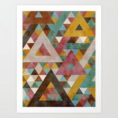 Triangles Kaleidoscope Art Print