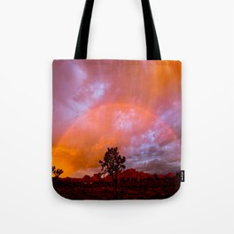 Desert Sunrise Rainbow   Tote Bag