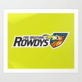 Fire Breathing Rowdys Full Logo Art Print