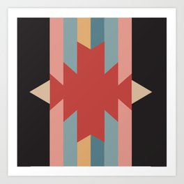 Red Star - Style Me Stripes Art Print