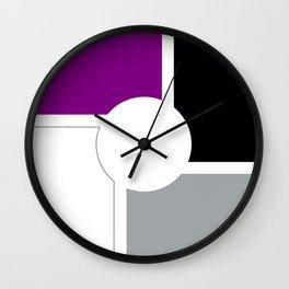 Asexual Pride Flag Circle Wall Clock