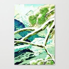 The Winter Green Canvas Print